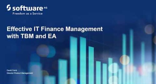 Alfabet webinar: Effective IT Finance Management with TBM and EA