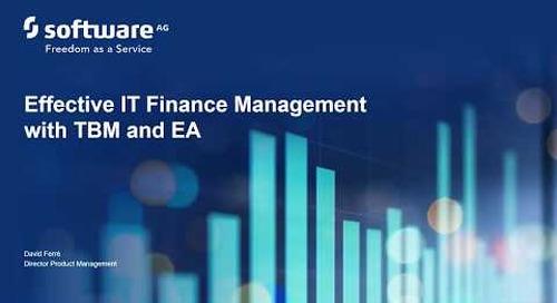 Alfabet webinar: Effective IT Finance Management with TBM and EA