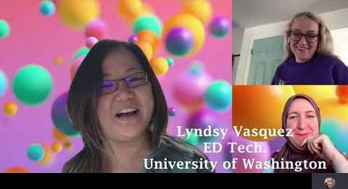 Lyndsy Vasquez learns she's won an award
