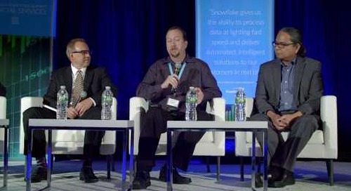 Customer Panel: Snowflake vs. Re-engineering an on-premises data warehouse