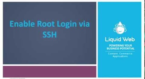 Enable Root Login via SSH