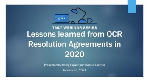Lessons learned from OCR Resolution Agreements in 2020