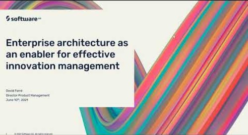 Enterprise architecture as an enabler for effective innovation management   Software AG