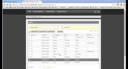 Trimble Asset Manager: Adding Assets