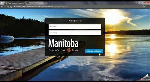 Travel Manitoba Partner Extranet 4.0 - First Login