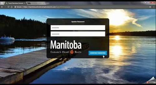 Travel Manitoba Partner Extranet 4.0 - First Login