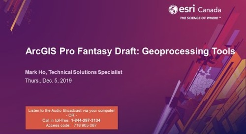 ArcGIS Pro Fantasy Draft: Geoprocessing Tools