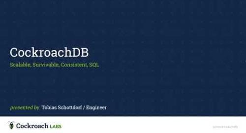 CockroachDB Tech Talk at Clarifai - 2016-06-02
