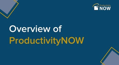 Overview of ProductivityNOW