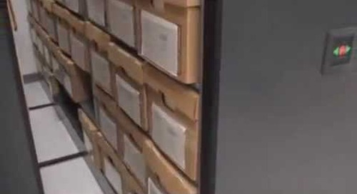 Space Saving High Density Mobile Box Storage Shelving Storing Record File Boxes