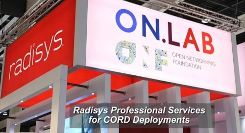Radisys Professional Services for CORD Deployments