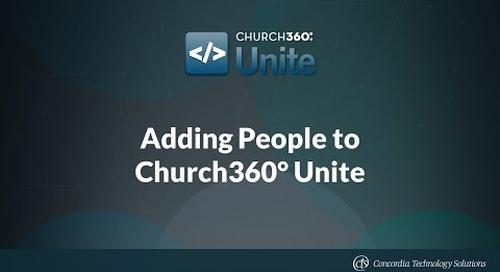Adding People to Church360° Unite