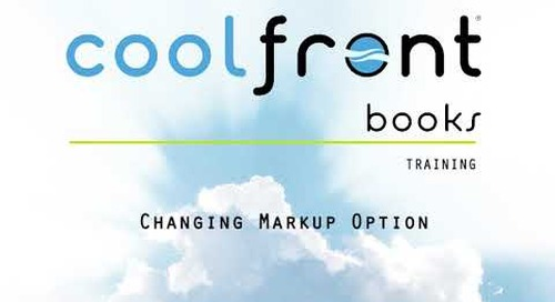Coolfront Books - Changing Markup Option