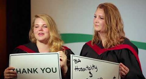 2018 Algonquin College Convocation Thank You