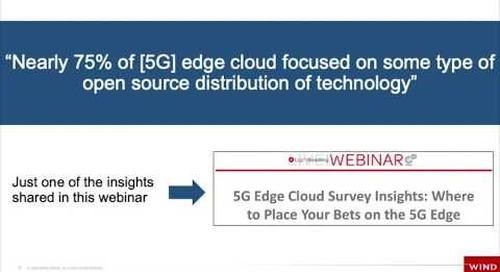 5G Survey Highlight: Open Source Focus for 5G vRAN