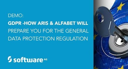Demo: GDPR - How Software AG's ARIS & Alfabet Prepare You for the General Data Protection Regulation