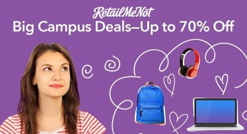 Major in Great Deals With RetailMeNot