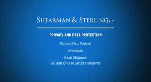 Richard Hsu Interviews General Counsel and Chief Privacy Officer for Sensity Systems