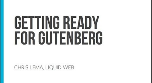 Webinar: Preparing for WordPress Gutenberg