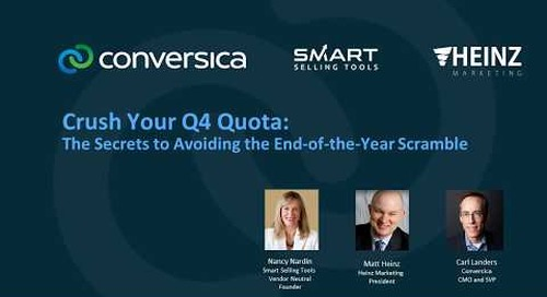 Crush Your Q4 Quota: The Secrets to Avoiding the End-of-the-year Scramble