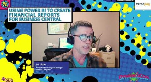 Joe Little - Using Power BI to Create Financial Reports for Business Central