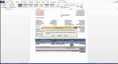 How Do I Customize a Word Layout in Dynamics NAV 2015  - Simple Formatting