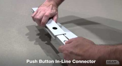 Push Button In-Line Connector Assembly
