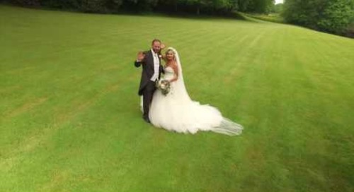 Beautiful Drone Wedding Video