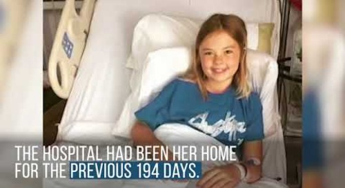 Little Girl with Cancer Returns Home for Holidays