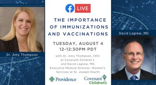 The importance of immunization and vaccinations during COVID-19