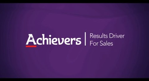 Achievers Results Driver for Sales