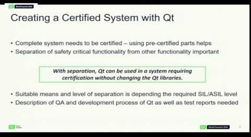QtWS16- Creating Functional Safety Certified Systems with Qt, Tuukka Turunen, The Qt Company
