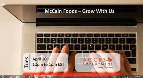 McCain Foods – Grow With Us