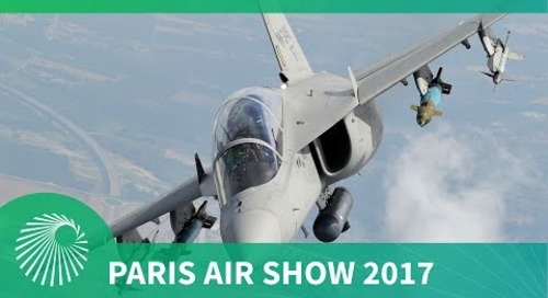 Paris Air Show 2017: Leonardo Aircraft M346 Fighter Attack first showing