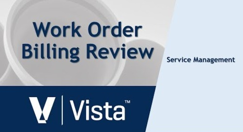 Work Order Billing Review Process