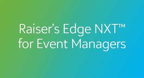 Raiser's Edge NXT for Event Managers