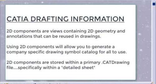 Creating a Company-Specific Drawing Symbol Catalog in CATIA