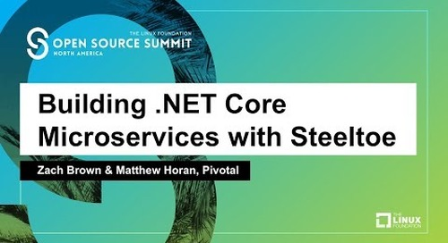 Building .NET Core Microservices with Steeltoe - Zach Brown & Matthew Horan, Pivotal
