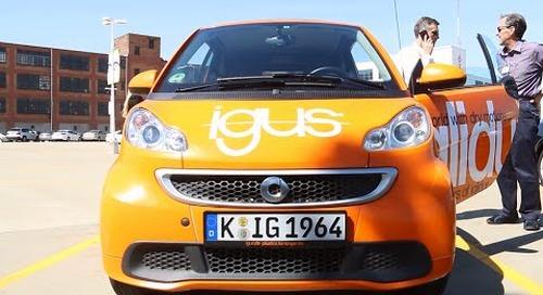igus iGlide car on tour