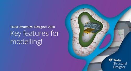 Tekla Structural Designer 2020 - Key features for modelling