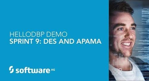 Hello DBP – Sprint 9 – DES & APAMA