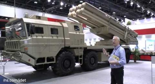 IDEX 2015 Christopher Foss talks about the NORINCO AR3 Multiple Artillery Rocket System