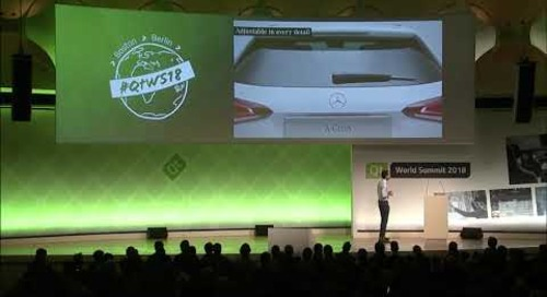 QtWS18 Keynote – Making of Qt-Powered UI @MBUX by MBition Mercedes Benz Innovation Lab at Daimler