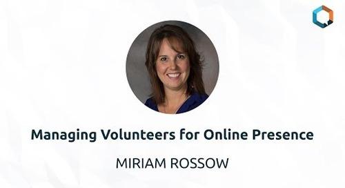 Managing Volunteers for Online Presence