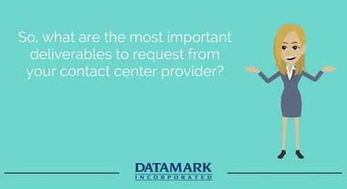 Establishing the Top Deliverables for Your Contact Center Services Provider