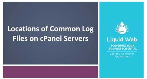 Locations of Common Log Files on cPanel Servers