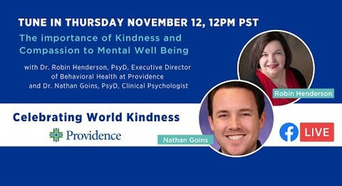 The importance of Kindness and Compassion to Mental Well Being