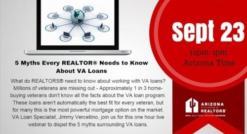 5 Myths Every REALTOR Should Know About VA Loans 9.23.2016