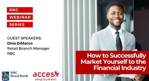 How to Successfully Market Yourself to the Financial Service Industry