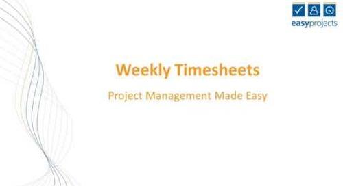 Weekly Timesheet Tutorial